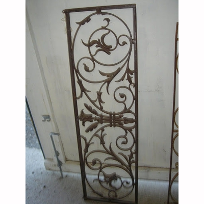 Iron Window Grille with Hanging Brackets
