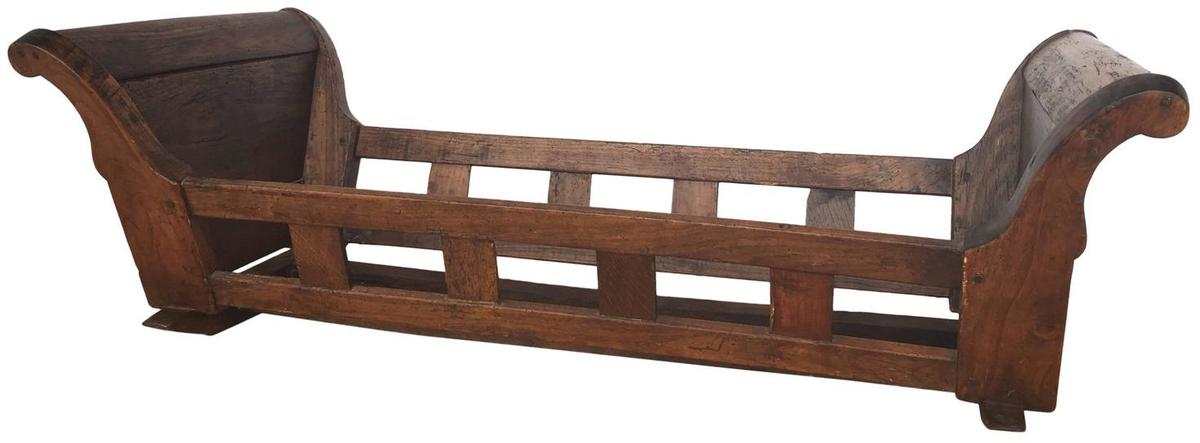 19th Century Walnut Berceau (Crib)