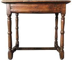 Antique Oak Side Table, circa 18th Century
