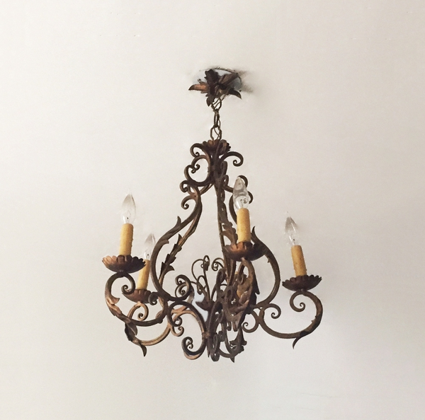 Early 20th Century Iron Chandelier
