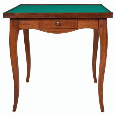 Vintage Card Table with Green Felt Top