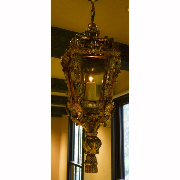 Pair of Italian Baroque Silver and Parcel Gilt Lanterns
