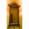 Portuguese Rococo Walnut and Parcel Gilt Pier Mirror