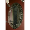 Venetian Oval Form Mirror with Scallop Etched Edge