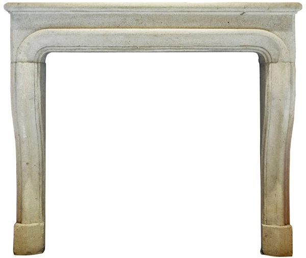 Antique Fireplace Limestone Mantel #1