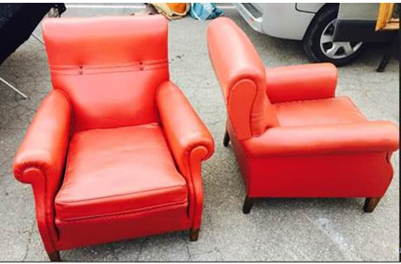 Red Armchair - Set