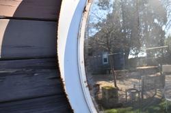 19th Century Convex Railway Mirror