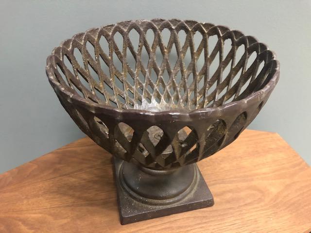 Vintage Cast Iron Fruit Bowl